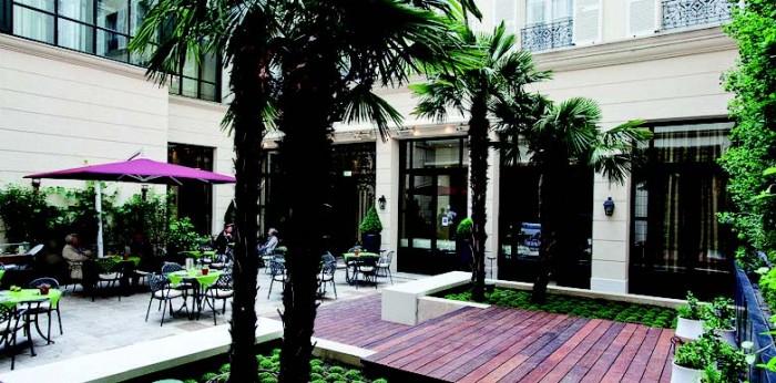 Il Patio, la terrasse bio de l'hôtel Lotti