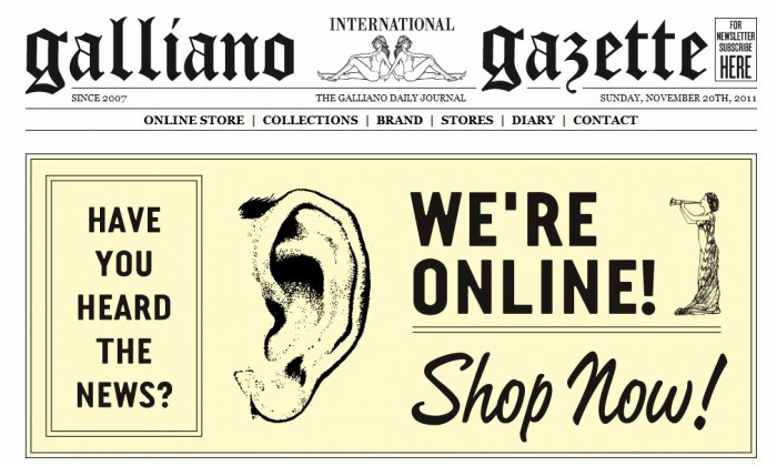 John Galliano lance sa boutique en ligne
