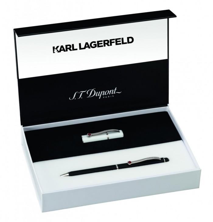 S.T. Dupont x Karl Lagerfeld, la collection «Blanc & Noir Mat»