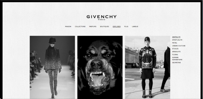 Givenchy dévoile son nouveau site