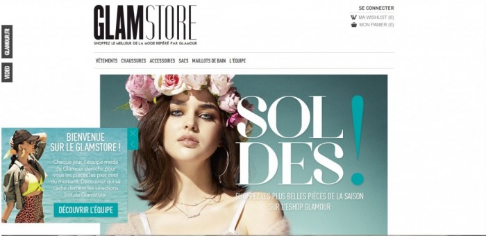 Glamstore, l'e-shop mode du magazine Glamour