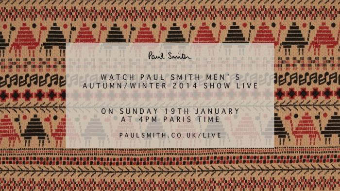 Suivez en direct le défilé Paul Smith Homme