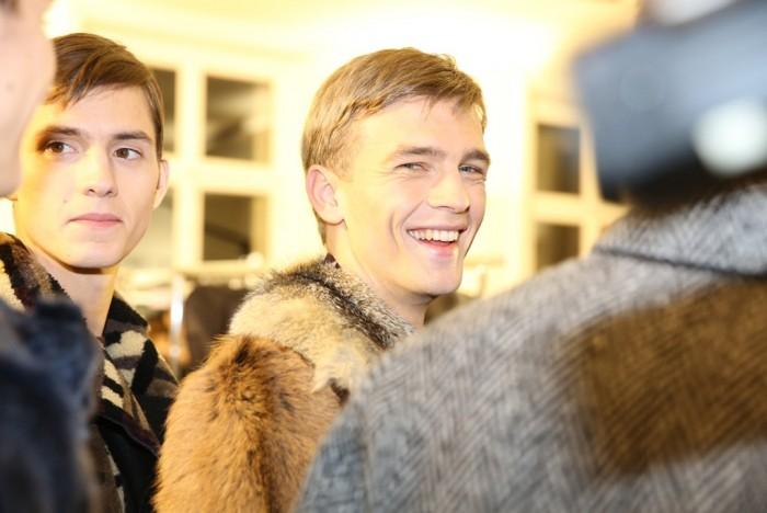 Backstage at Valentino Men's Fall 2014
