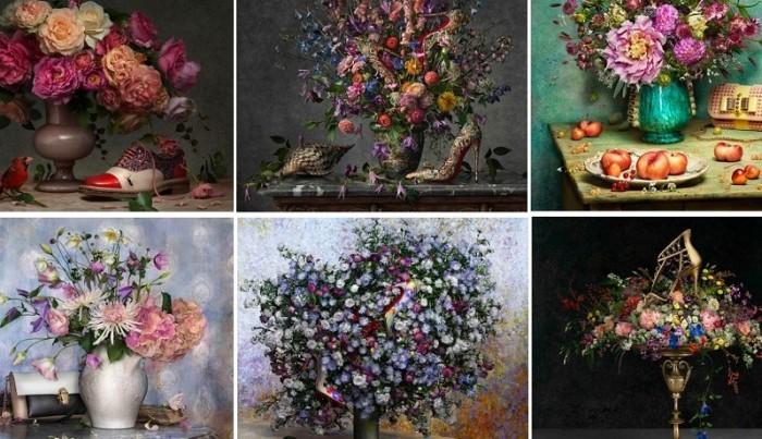 Flowers, les tableaux Printemps-Été 2014 de Christian Louboutin