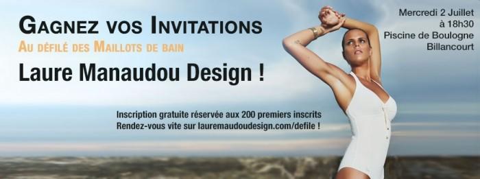 Gagnez votre place pour le défilé de maillots de bain de Laure Manaudou