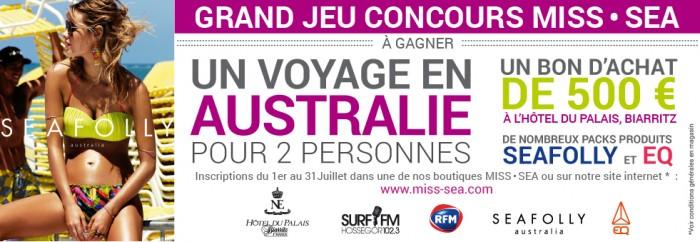 Miss Sea vous offre la possibilité de gagner un voyage en Australie