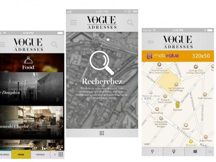 Vogue Adresses, la nouvelle application de Vogue Paris