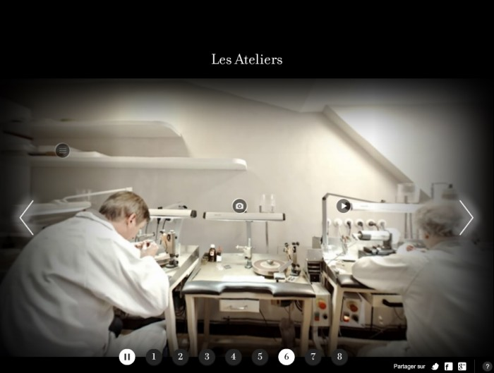La vitrine tactile de Van Cleef and Arpels