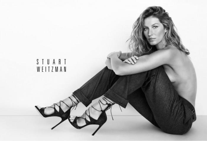 Gisele Bündchen se dénude pour la dernière campagne Stuart Weitzman