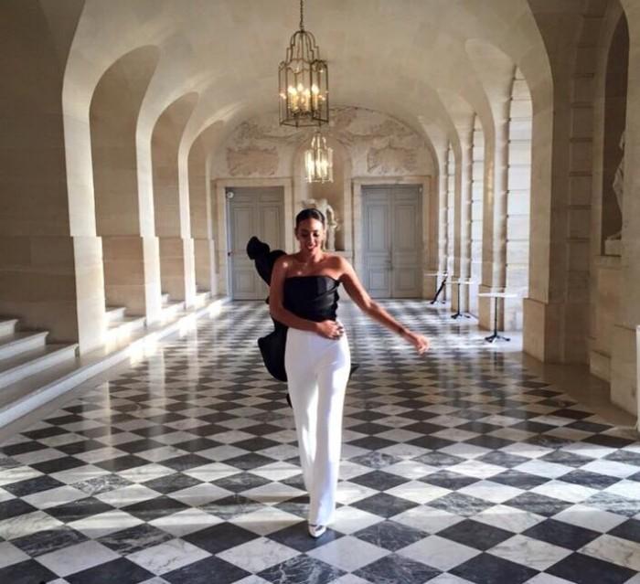 Solange Knowles Ferguson en Stephane Rolland à Versailles