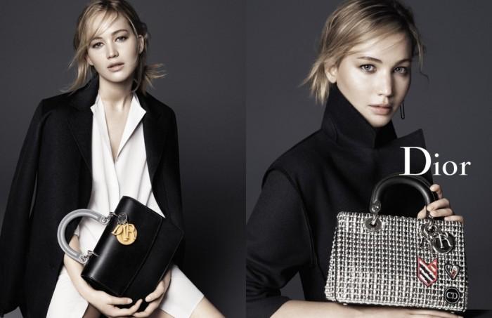 Jennifer Lawrence sublime la campagne Accessoires de la Maison Dior