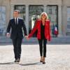 Le blazer Alexandre Vauthier selon Brigitte Macron