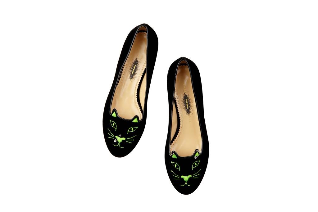 charlotte-olympia-binns01 anarchy kitty green velvet