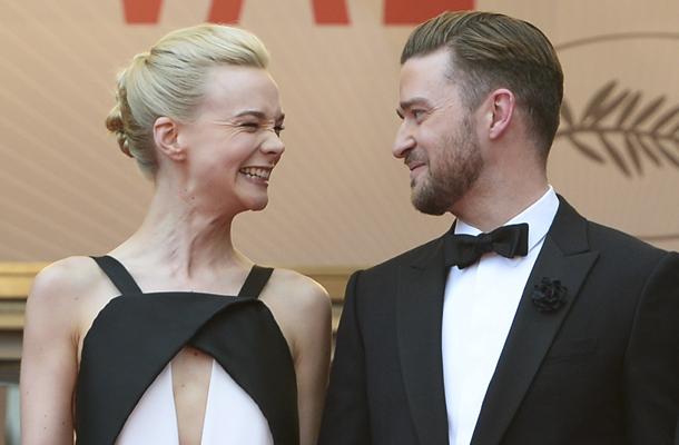 Carey Mulligan en robe Vionnet et justin Timberlake en smoking Balenciaga