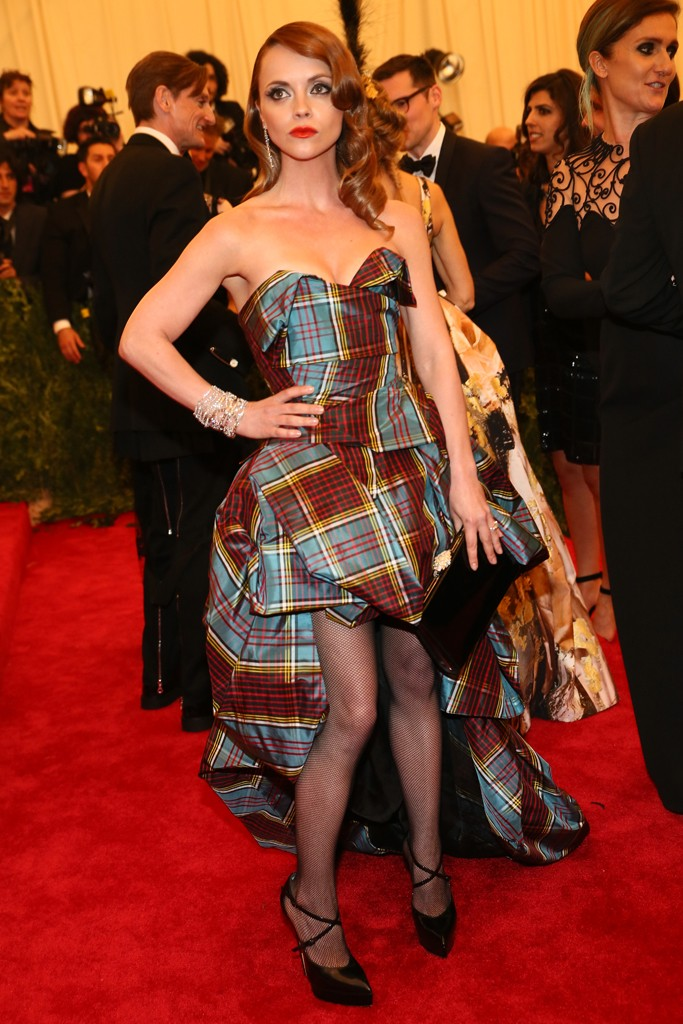 Christina Ricci in Vivienne Westwood - photo by Evan Falk