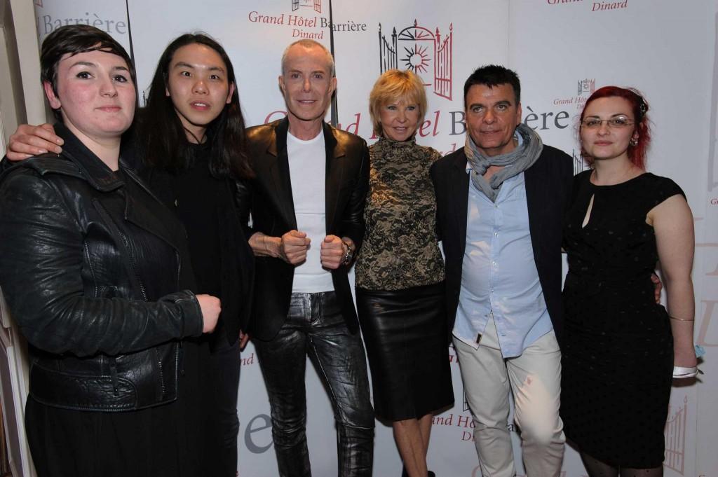 Jean-Claude Jitrois,Dominique-Damien,Marie-Christiane Marek entourés des Lauréats Dinard 2013