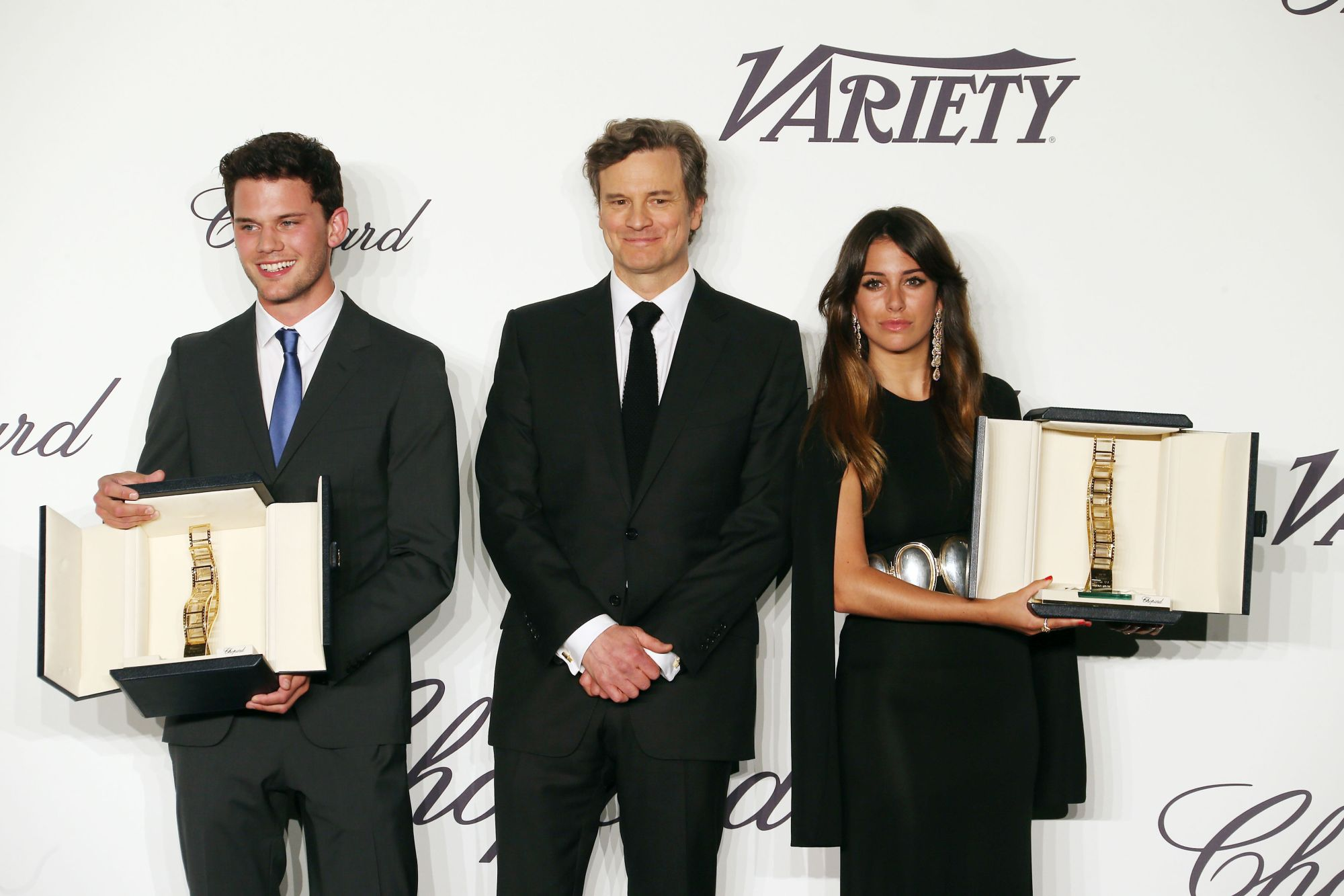 Jeremy_Irvine_Colin_Firth_and_Blanca_Suarez_in_Chopard p