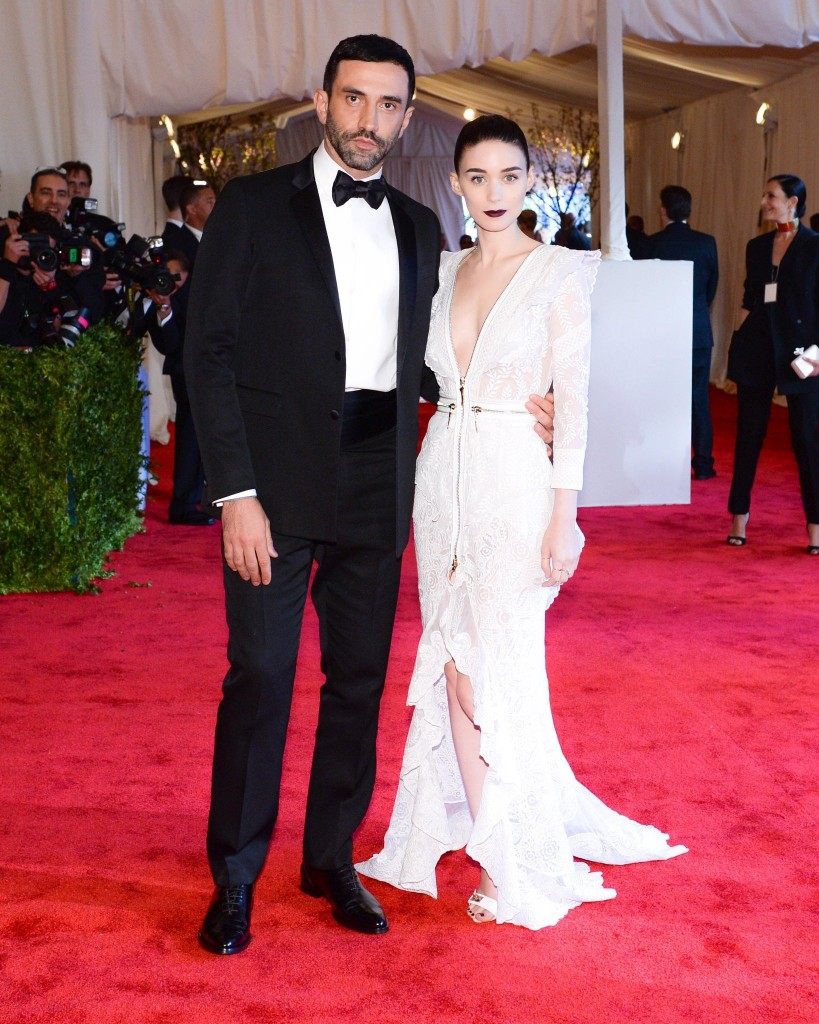 Riccardo Tisci and rooney mara at the metropolitan Museum of Art Costume Institute Gala