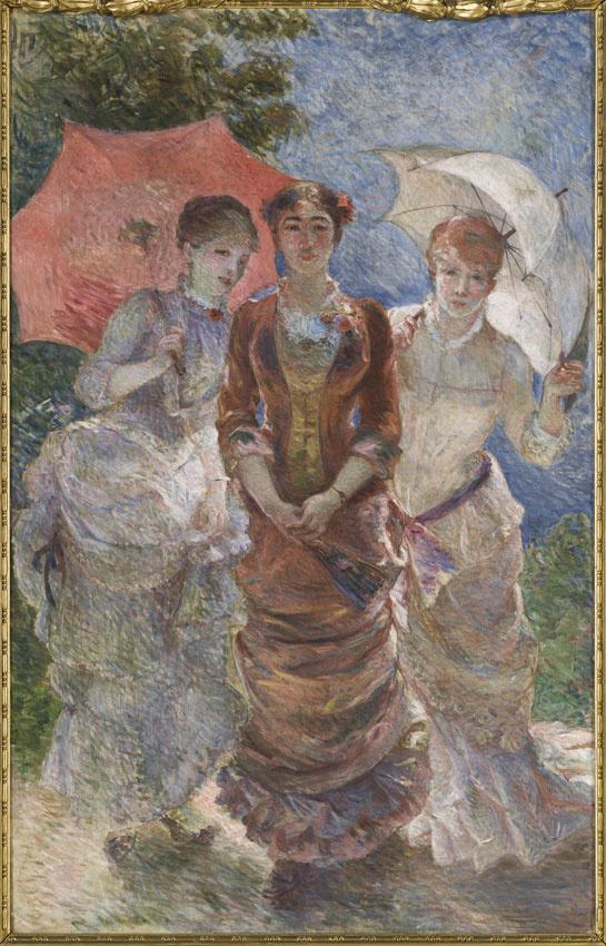 Trois femmes aux ombrelles de Marie Bracquemond