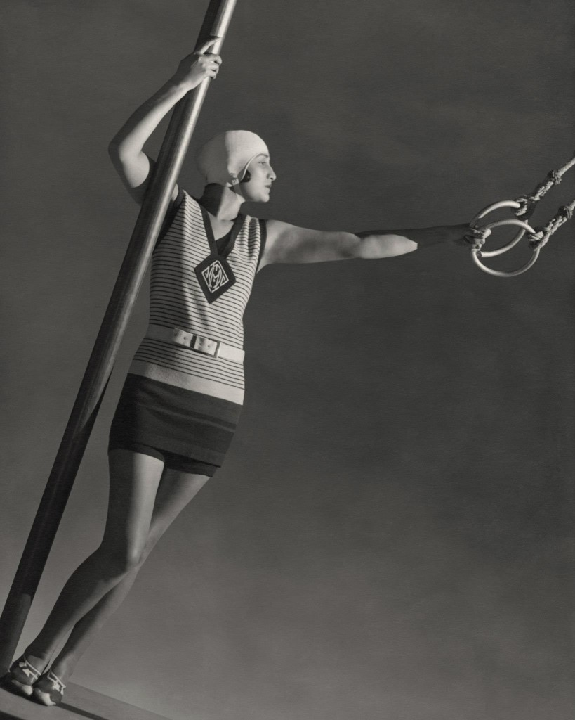WEARING WOOL SWIMSUIT - GEORGE HOYNINGEN-HUENE