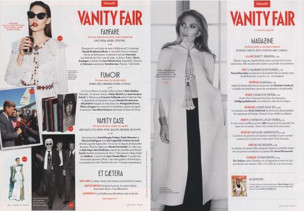 Sommaire Vanity Fair france