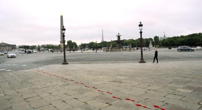 red sole on parisian street 2