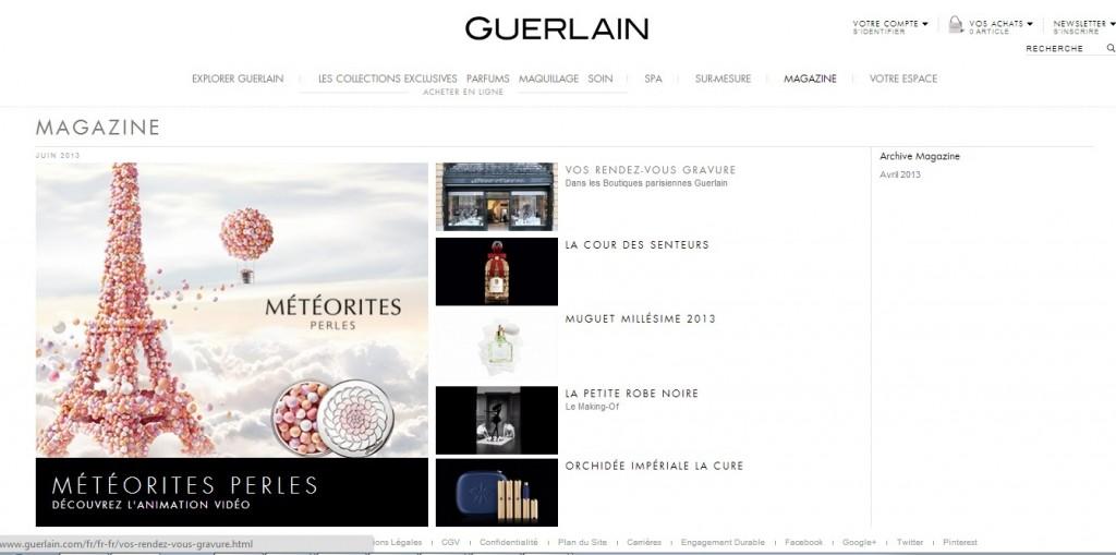 guerlain magazine