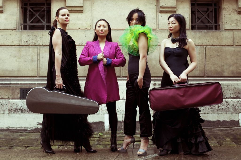 Photo Yuji Watanabe - Béatrice Muthelet, Aurélie Moron (productrice Arcadia), Connie Shih et Arisa Fujita