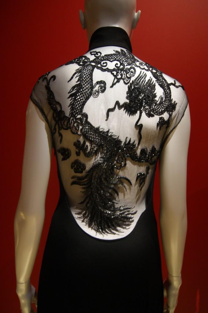 Ralph Lauren, robe longue du soir en crêpe de soie et broderies perlées automne 2011