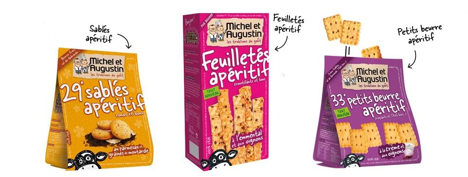 biscuits apéritifs michel et augustin