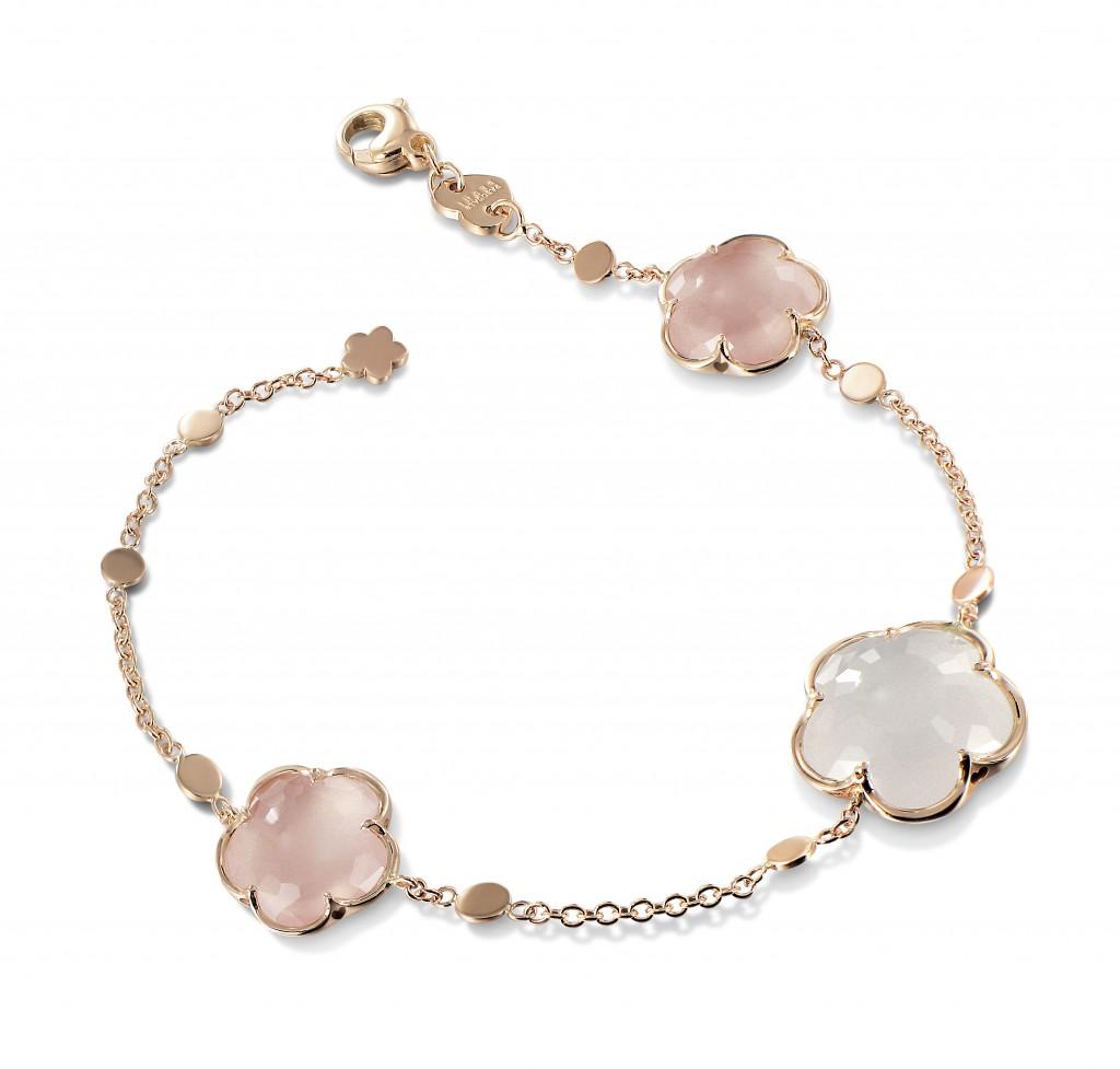 PASQUALE BRUNI bracelet Bon Ton-bracelet_milky and pink quartz