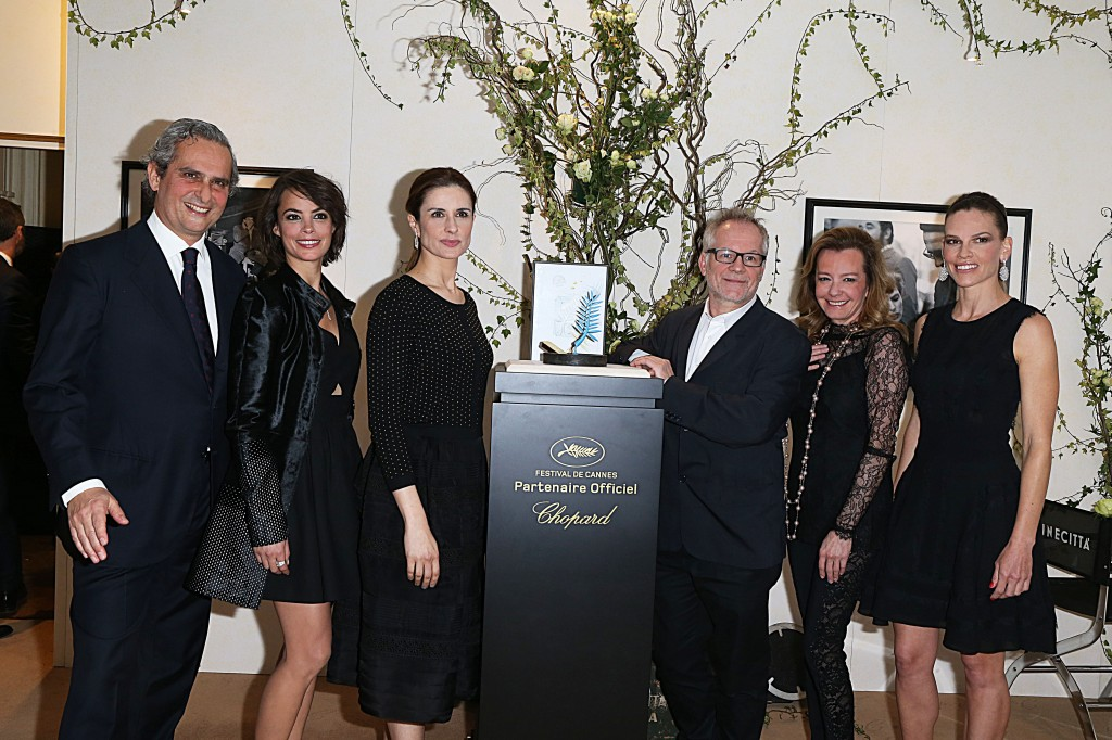 Rodrigo Cipriani, Bérénice Béjo, Livia Firth, Thierry Frémaux, Caroline Scheufele, Hilary Swank