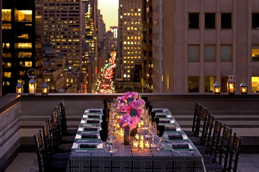 Peninsula New York outdoor terrace