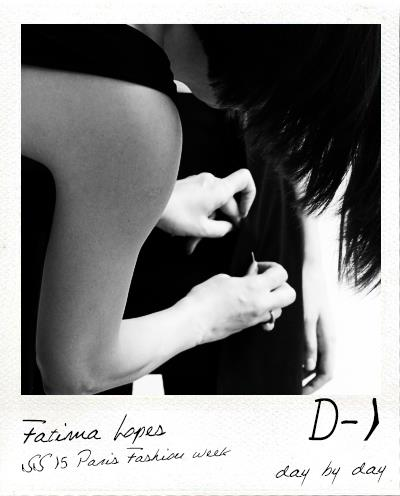 D-1 Fitting 03 Fashion show Fatima Lopes