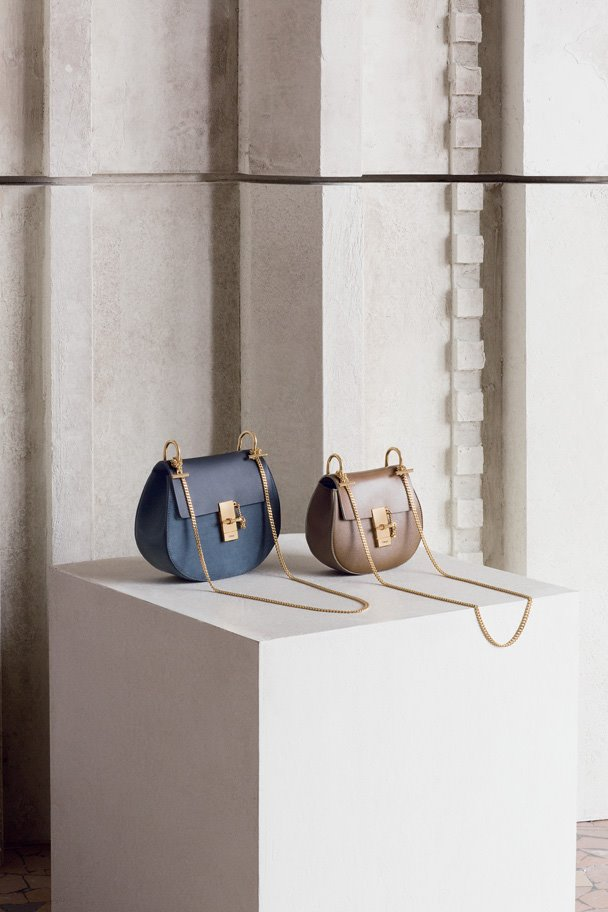 Drew Bag MERINO BLUE  and Drew bag BARBOUR KHAKI