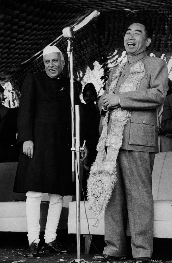 Jawaharlal Nehru et Zhou Enlai, Inde, 1956_Tirage argentique, signé_Marc Riboud-Galerie Arcturus
