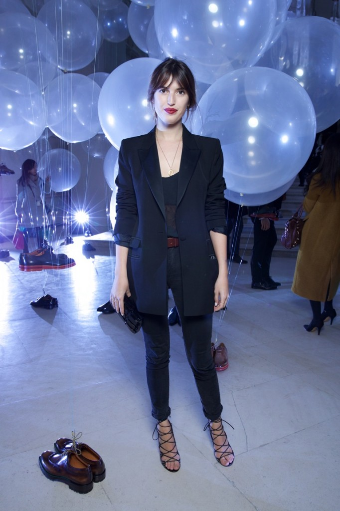Jeanne DAMAS   . Berluti Show FW15-16. Musee Arts Decoratifs. 01/2015 © david atlan
