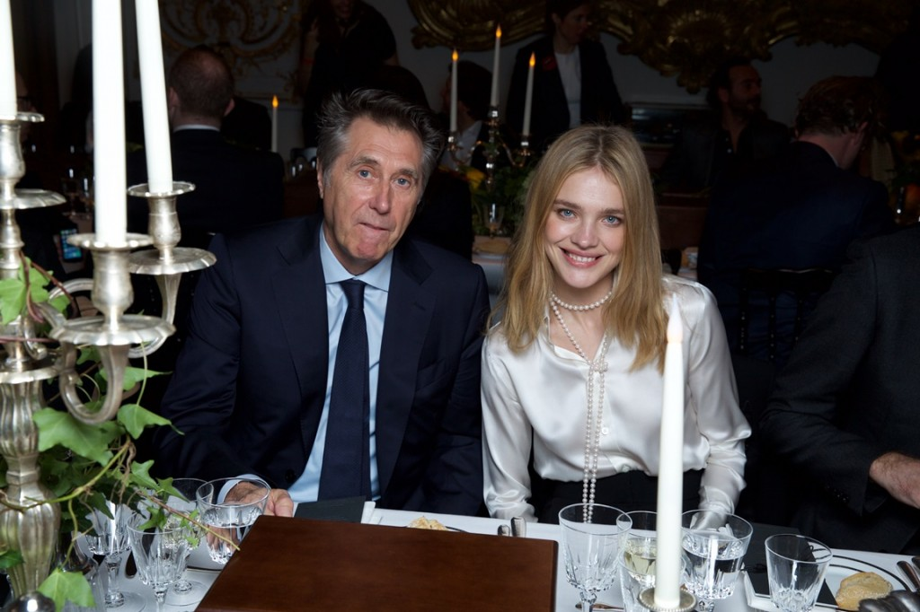 Bryan FERRY. Natalia VODIANOVA   . Berluti Show FW15-16. Musee Arts Decoratifs. 01/2015 © david atlan