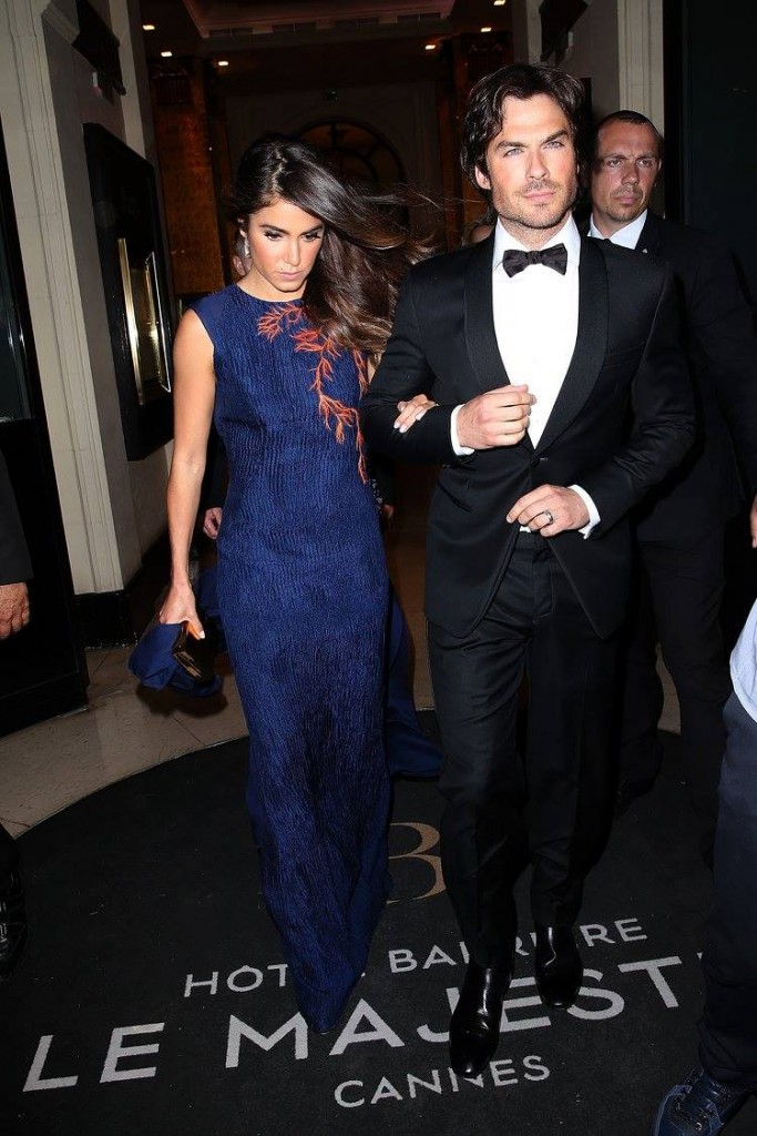 ian somerhalder et nikki reed sa femme photo by pierre suu GC images