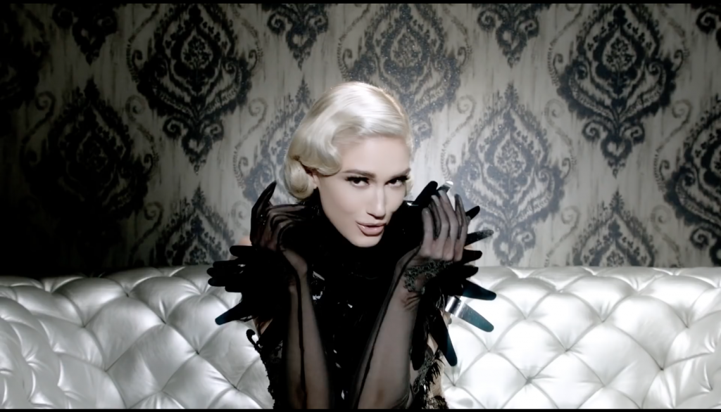 "Gwen Stefani's Fashion-Filled ""Misery"" music video wearing On Aura Tout Vu 2"