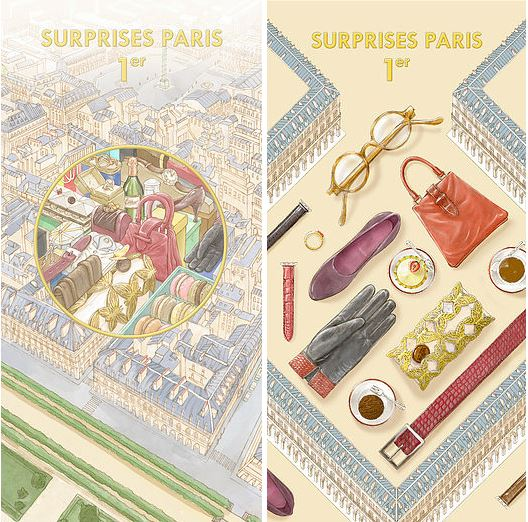 illustration paris tuileries