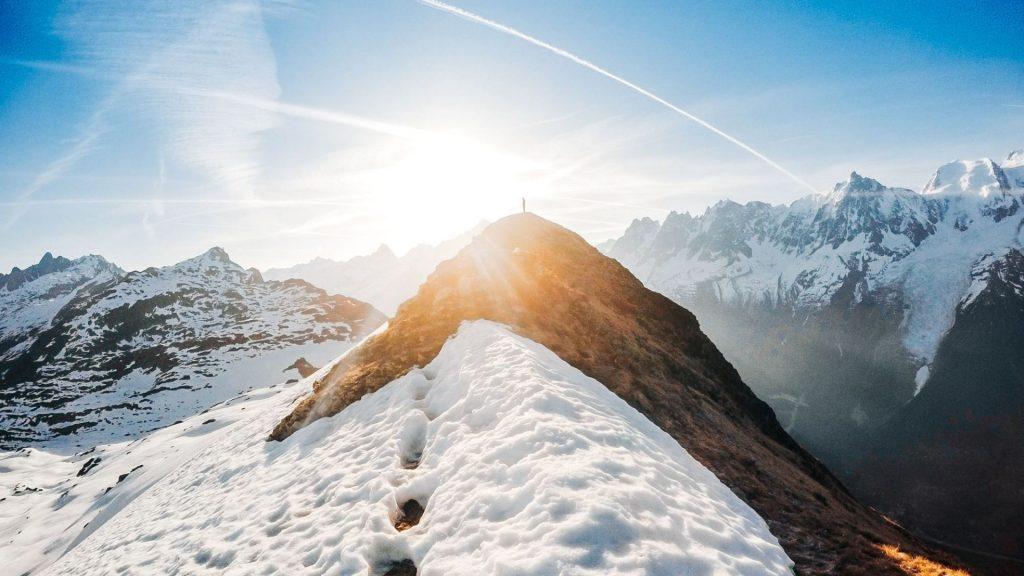 Sunrise in Chamonix by Jeremy Janin