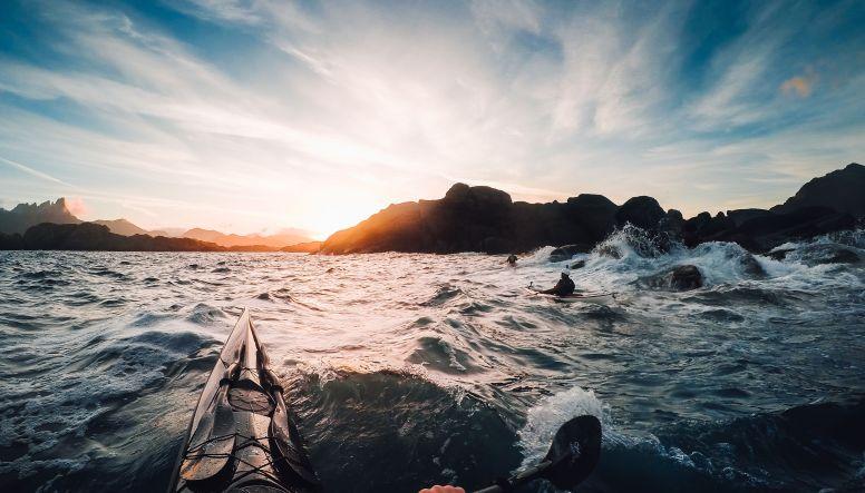 Waves and rocks in Lofoten Islands by Tomasz Furmanek
