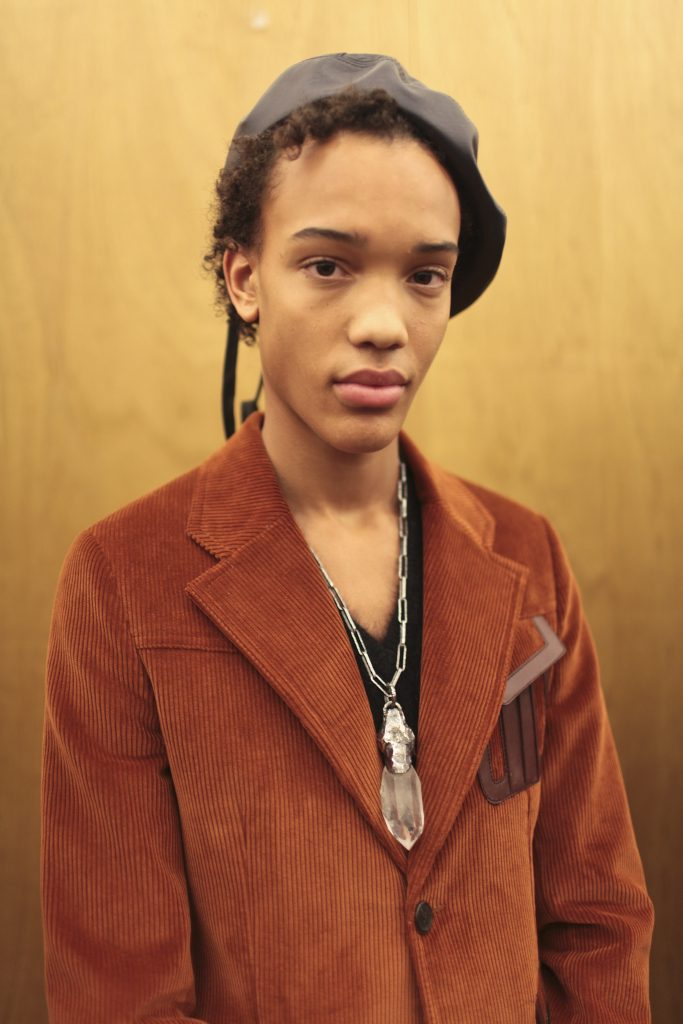 Backstage at Prada Men's Fall 2017
