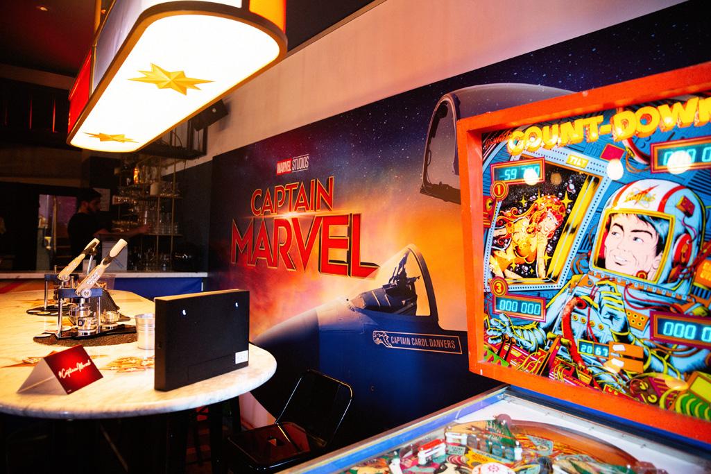 """Central Park 90's lieu ephemere pour la sortie du film """"Captain Marvel"""" en France"""
