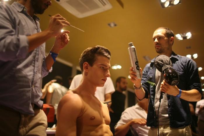 Behind the scenes Versace Men Spring 2013