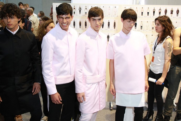 Behind the scenes Givenchy Men Spring 2013