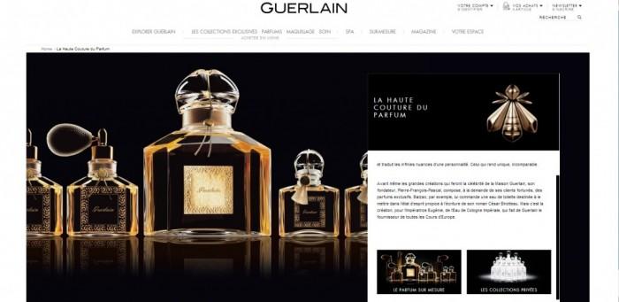 Quand le site de Guerlain se refait une beauté