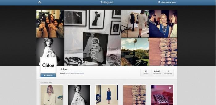 Chloe lance son Instagram