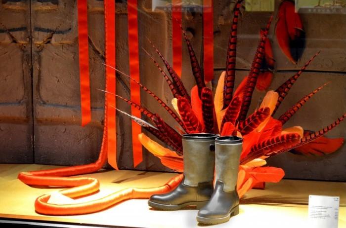 Les vitrines d'automne Hermès de Lyon réalisées par l'IAE Saint-Etienne